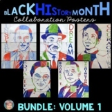 Black History Month Activities: Collaboration Poster BUNDLE Vol. 1 incl. MLK Jr