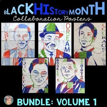 Black History Month Activities: Collaboration Poster BUNDLE Vol. 1 incl. MLK Jr