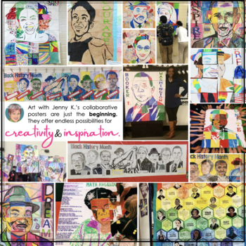Black History Month Activities: Collaborative Poster BUNDLE Set 1