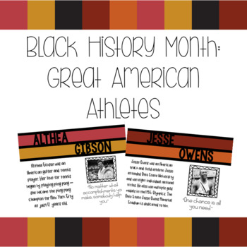 Black History Month: Athletes Bulletin Board