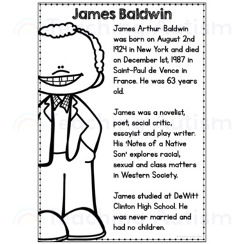 Black History Month - Authors - Reading Comprehension