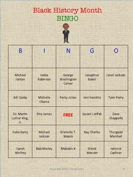 Black History Month BINGO Game Extravaganza
