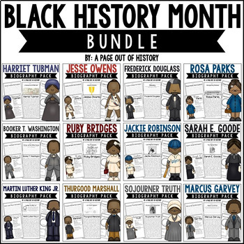 Black History Month Biography Pack BUNDLE