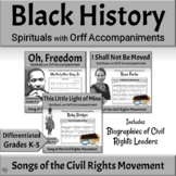 Black History Month Songs & Orff Activities Music BUNDLE |  Civil Rights Leaders