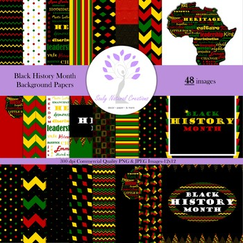 Black History Month Background Papers By Souly Natural Creations