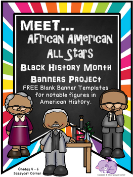 Black History Month - Banner Report Project - FREE Sample