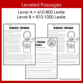 Black History Month Barack Obama Activity Set
