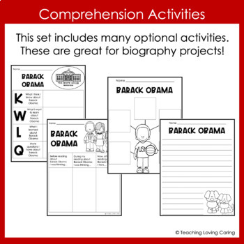 Barack Obama Activities - Black History Month