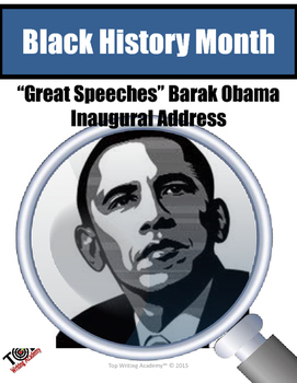 Black History Month Barak Obama Inaugural Address Close Reading Unit