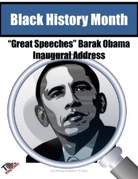 Black History Month Barak Obama Inaugural Address Close Re