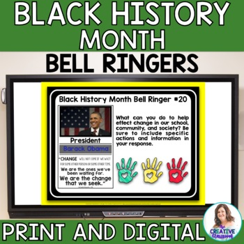 black history month bell ringers by the creative classroom tpt