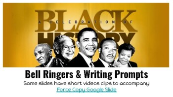 Black History Month Bell Ringers/Writing Prompts
