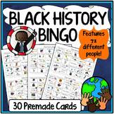 Black History Month Activities {30 Bingo Cards}