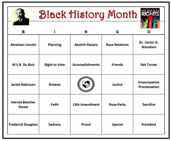 photograph regarding Free Printable Black History Trivia Questions and Answers identify Black Historical past Thirty day period Bingo Video game- 60 Playing cards Printable, Features Get in touch with Phrases