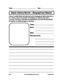 Black History Month - Biographical Sketch Form