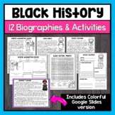 Black History Month Biographies & Activities