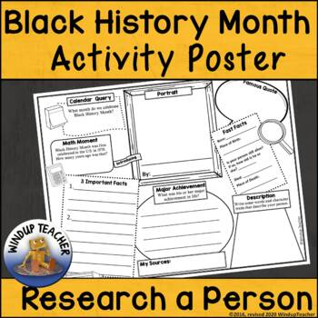 Black History Month Activity Sheet