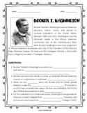 Black History Month Biography: Booker T. Washington