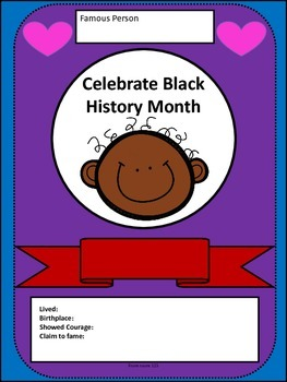 Black History Month Biography Card Activity & Writing Prompt