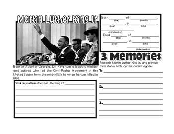 Black History Month Biography Packet