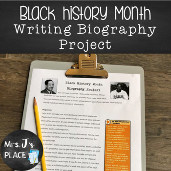 Black History Month Biography Research Project