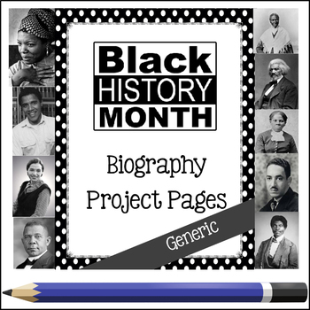 Black History Month - Biography Project Unit