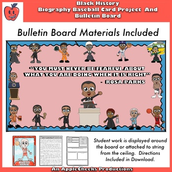 Black History Month Biography Projects, Bulletin Board, and More Amazing