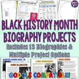 Black History Month Biography Projects with Readings