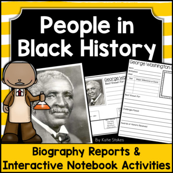 Black History Month - Biography Research Project