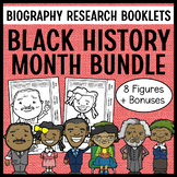 Black History Month Biography Research Projects SET
