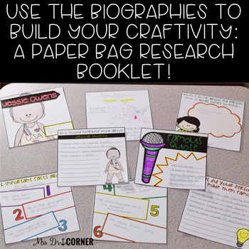 Black History Month Research Project and Craftivity (Biographies INCLUDED!)