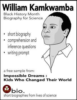 Black History Month Biography for Science: William Kamkwamba