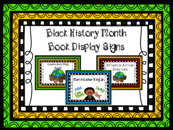 Black History Month Book Display Signs