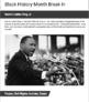 Black History Month Break In Activity