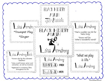 Black History Month Bulletin Board Set/Printables/Signs Musician Louis Armstrong