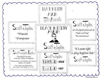 Black History Month Bulletin Board Set/Printables/Signs Musician Scott Joplin