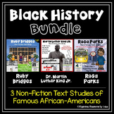 Black History Month Bundle  - Martin Luther King, Jr., Rosa Parks & Ruby Bridges