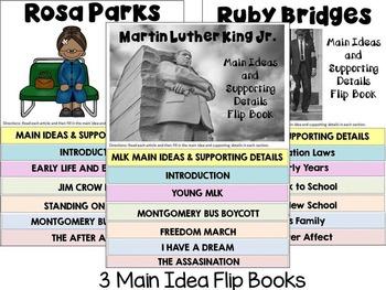 Black History Month Bundle  - Martin Luther King, Jr., Rosa Parks & Ruby Bridges