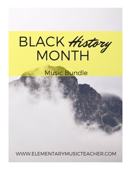 Black History Month Bundle: 6 activities, songs (Spirituals, Martin Luther King)