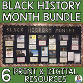 Black History Month Bell Ringers, Bulletin Board, and Research Activities Bundle