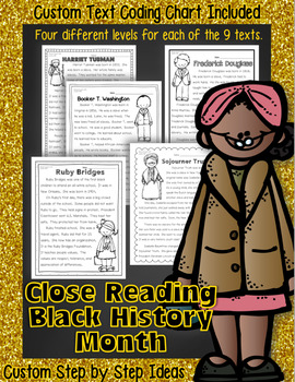 Black History Month Bundle Close Reading w/ Activities 100% Common Core Aligned