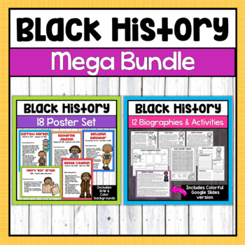 Black History Month Bundle-biographies, activities, & posters