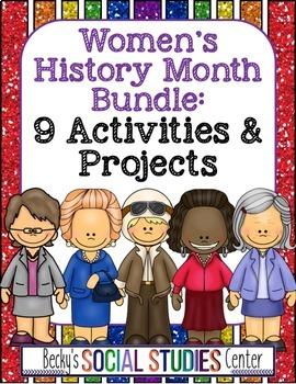 Women's History Month Bundle for Middle School - Nine Acti