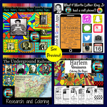 Black History Month Bundle of Great Activities Coloring Pages