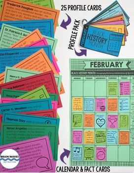 Black History Month Calendar, Biographies and Black History Activities
