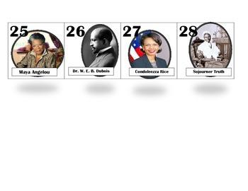 Black History Month Calendar Inserts