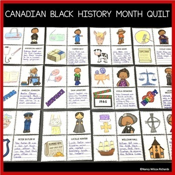 Black History Month Canada Activities with Art and Research