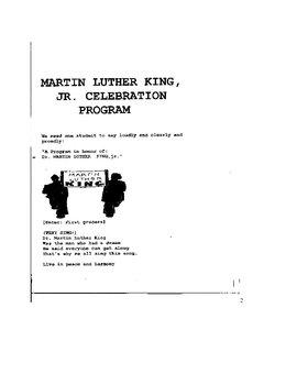 Black History Month Celebration focusing on Dr. MLK jr and Civil Rts