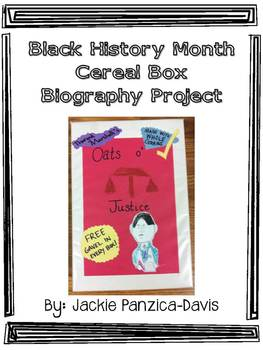 Black History Month Cereal Box Biography With Rubric By Jackie