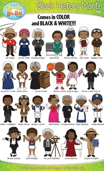 Black History Month Characters Clipart {Zip-A-Dee-Doo-Dah Designs}